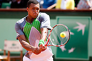 Roland Garros 2011. Paris, France. May 22nd 2011..French player Jo-Wilfried TSONGA against Jan HAJEK.