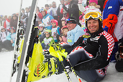 Ivica Kostelic during last race of Andrej Jerman, Slovenian best downhill skier when he finished his professional alpine ski career on April 6, 2013 in Krvavec Ski resort, Slovenia. (Photo By Vid Ponikvar / Sportida)