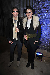 Left to right, GUY ROBERTSON and HENRY CONWAY at the launch of 2 collections by jeweller Stephen Webster - ÔThe 7 Deadly SinsÕ and ÔNo RegretsÕ held at The Old Vics Tunnels, Under Waterloo Station, Off Leake Street, London SE1 on 8th December 2010.<br /> Left to right, GUY ROBERTSON and HENRY CONWAY at the launch of 2 collections by jeweller Stephen Webster - 'The 7 Deadly Sins' and 'No Regrets' held at The Old Vics Tunnels, Under Waterloo Station, Off Leake Street, London SE1 on 8th December 2010.