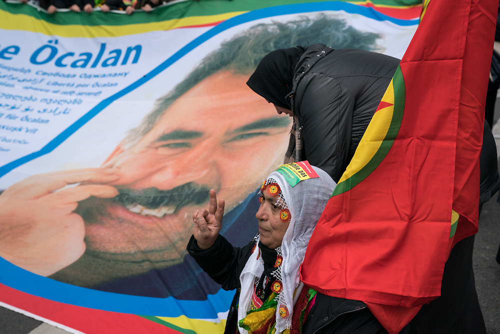 France, Paris, 6 January 2018. March for the truth and justice of three Kurds activists, Sakine Cansiz, Fidan Dogan (Rojbîn), and Leyla Saylemez assassinated in Paris in January 9 2013.