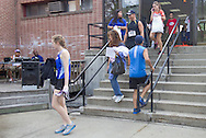 Middletown, New York - Runners check in for the 16th annual Ruthie Dino-Marshall 5K Run/Walk put on by the Middletown YMCA on Sunday, June 10, 2012.