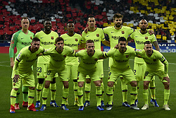 November 24, 2018 - Madrid, Madrid, Spain - (L-R) ter Stegen, Samuel Umtiti, Nelson Semedo, Sergio Busquets, Gerard Pique, Arturo Vidal, Lionel Messi, Sergi Roberto, Arthur Melo, Luis Suarez, Jordi Alba during the week 13 of La Liga match between Atletico Madrid and FC Barcelona at Wanda Metropolitano Stadium in Valencia, Spain on November 24, 2018. (Credit Image: © Jose Breton/NurPhoto via ZUMA Press)