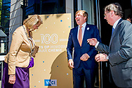 25-06-2018 VNCI Arrival of King Willem-Alexander with Pauline Krikke for the 100 year jubilee of the association of the Dutch chemical industry, VNCI, in the Hague.