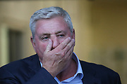 Aston Villa Manager Steve Bruce during the second round or the Carabao EFL Cup match between Burton Albion and Aston Villa at the Pirelli Stadium, Burton upon Trent, England on 28 August 2018.