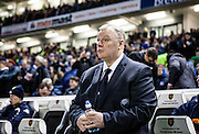 Leeds United manager Steve Evans during the Sky Bet Championship match between Brighton and Hove Albion and Leeds United at the American Express Community Stadium, Brighton and Hove, England on 29 February 2016. Photo by Bennett Dean.