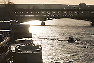 France. Paris. Bir hakeim bridge on the Seine river at sunset / Paris le pont de Bir Hakeim sur la Seine
