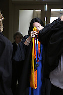 Masters of International Agriculture Hooding ceremony Spring 2015.