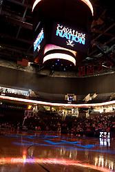The John Paul Jones Arena before the Virginia Cavaliers women's basketball team faced the Richmond Spiders at the John Paul Jones Arena in Charlottesville, VA on November 18, 2007.