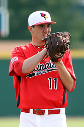 06 April 2013:  Dan Savas pitches during an NCAA division 1 Missouri Valley Conference (MVC) Baseball game between the Missouri State Bears and the Illinois State Redbirds in Duffy Bass Field, Normal IL