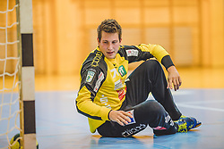 29.09.2018, Sporthalle Leoben-Donawitz, Leoben, AUT, HLA, Union JURI Leoben vs Sparkasse Schwaz HANDBALL TIROL, im Bild Jost Perovsek (Sparkasse Schwaz HANDBALL TIROL) // during the Handball League Austria, match between Union JURI Leoben vs Sparkasse Schwaz HANDBALL TIROL at the sport Hall, Leoben, Austria, 2018/09/29, EXPA Pictures © 2018, PhotoCredit: EXPA/ Dominik Angerer