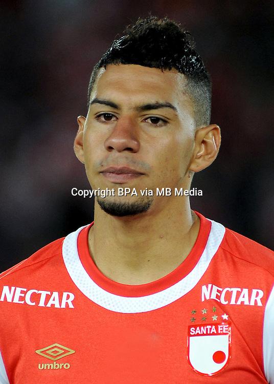 Colombia League - Liga Aguila 2015-2016 - <br /> Club Independiente Santa Fe - Colombia / <br /> Yeison Stiven Gordillo Vargas