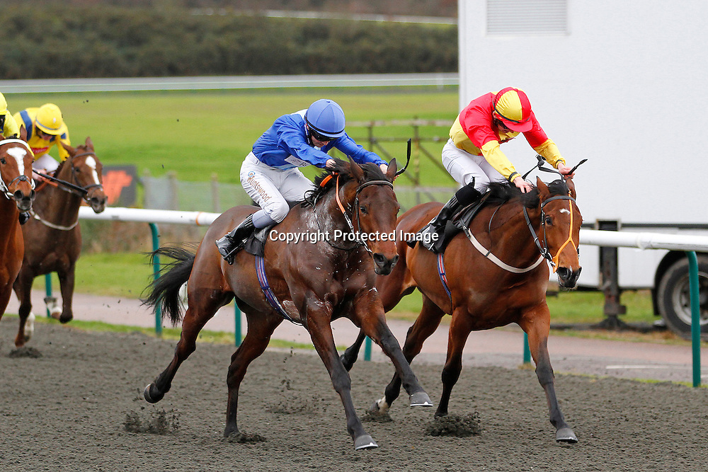 My Scat Daddy and Accursio Romeo winning the 12.30 race
