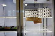 A refrigerator containing organic items at the Polyface Farms store in Swoope, Virginia on Monday, October 3, 2011.
