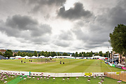 General view of the ground before day 4 of the Specsavers County Champ Div 2 match between Gloucestershire County Cricket Club and Leicestershire County Cricket Club at the Cheltenham College Ground, Cheltenham, United Kingdom on 18 July 2019.