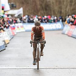 29-01-2017: Wielrennen: Wereldkampioenschap veldrijden: Luxemburg<br /> BIELES (LUX) cyclocross<br /> Lars van der Haar werd vierde op het WK.