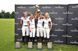 The winning Jaeger-LeCoultre white team at a charity polo match organised by Jaeger Le Coultre was held at Ham Polo Club, Richmond, Surrey on 12th June 2009.