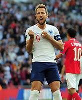 Football - 2018 / 2019 UEFA European Championships Qualifier - Group A: England vs. Bulgaria<br /> <br /> Harry Kane of England celebrates scoring goal no 2 from the penalty spot, at Wembley Stadium.<br /> <br /> COLORSPORT/ANDREW COWIE
