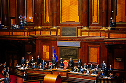A general view of the Italian Senate chamber as voting takes place for the President of the Senate during the first session of XVIII Legislature on March 24, 2018 in Rome, Italy. Christian Mantuano / OneShot