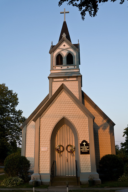 The Episcopal Chirch of the Holy Cross in Middletown, Rhode Island. It was design by Richard Upjohn, built in the Gothic revival style, and opened in 1845.