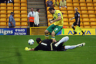 Grant Holt of Norwich misses an early chance during a pre season friendly at Carrow Road stadium, Norwich...Picture by Paul Chesterton/Focus Images Ltd.  07904 640267.3/8/11