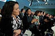 Kandidaat leider Nebahat Albayrak luistert. In Utrecht wordt een speciale ledenraad van de PvdA gehouden. Tijdens de vergadering wordt gesproken over het afscheid van Job Cohen en over de toekomst van de partij.<br /> <br /> Nebahat Albayrek is listening. In Utrecht, a special council of the PvdA (Dutch Labour Party) is held . During the meeting the members discussed the departure of Job Cohen as leader and the future of the party