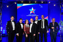 The Greater Lincolnshire Construction and Property Awards 2018 judges with guest speaker and host for the event, Wayne Hemingway<br /> <br /> Greater Lincolnshire Construction and Property Awards 2018 organised by Lincolnshire Chamber of Commerce and held at The Engine Shed, Lincoln.<br /> <br /> Picture: Chris Vaughan Photography<br /> Date: February 6, 2018