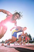 Sprinters challenge --- Image by © Jim Cummins/CORBIS