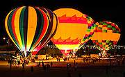 All the balloons glow during the Twinkle in the Twilight Evening Glow Show at the Second Annual Hot Air Balloon Festival and Carnival.