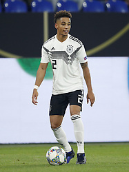 Thilo Kehrer of Germany during the UEFA Nations League A group 1 qualifying match between Germany and The Netherlands at the Veltins Arena on November 19, 2018 in Gelsenkirchen, Germany