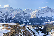 panorama view of the summits near Grindelwald, Berne, Switzerland
