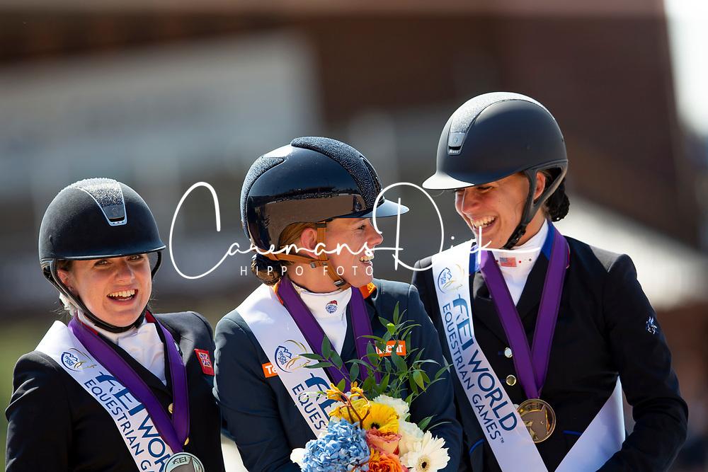 Van Der Horst Rixt, NED, Hart Rebecca, USA, Natasha Baker, GBR, <br /> World Equestrian Games - Tryon 2018<br /> © Hippo Foto - Sharon Vandeput<br /> 19/09/2018