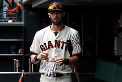 SAN FRANCISCO, CA - MAY 26: Steven Duggar #6 of the San Francisco Giants stands in the dugout before the game against the Arizona Diamondbacks at Oracle Park on May 26, 2019 in San Francisco, California. The Arizona Diamondbacks defeated the San Francisco Giants 6-2. (Photo by Jason O. Watson/Getty Images) *** Local Caption *** Steven Duggar