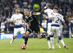 April 30, 2019 - London, England, United Kingdom - Donny van de Beek of Ajax.during UEFA Championship League Semi- Final 1st Leg between Tottenham Hotspur  and Ajax at Tottenham Hotspur Stadium , London, UK on 30 Apr 2019. (Credit Image: © Action Foto Sport/NurPhoto via ZUMA Press)