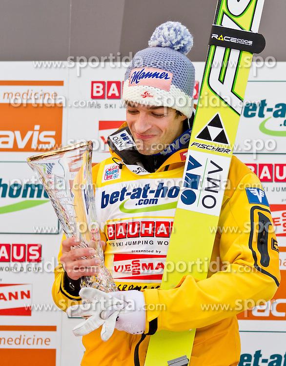 04.01.2012, Bergisel-Stadion, Innsbruck, AUT, 60. Vierschanzentournee, FIS Ski Sprung Weltcup, Podium, im Bild Andreas Kofler (AUT, 1. Platz) // Andreas Kofler of Austria first place on Podium of 60th Four-Hills-Tournament FIS World Cup Ski Jumping at Bergisel-Stadion, Innsbruck, Austria on 2012/01/04. EXPA Pictures © 2012, PhotoCredit: EXPA/ Peter Rinderer