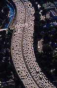 Traffic in Los Angeles, California.