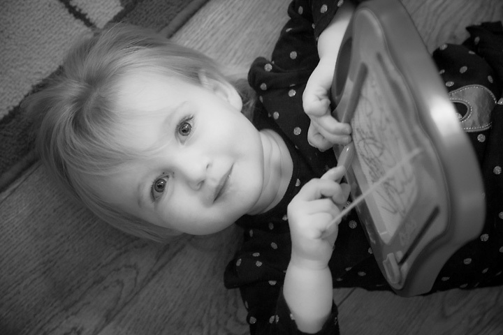 Budding artist and granddaughter, Mya Shuler, Pittsburg, California
