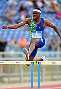 Rai Benjamin (USA) wins the 400m hurdles  in 47.58 during the 39th Golden Gala Pietro Menena in an IAAF Diamond League meet at Stadio Olimpico in Rome on Thursday, June 6, 2019. (Jiro Mochizuki/Image of Sport)