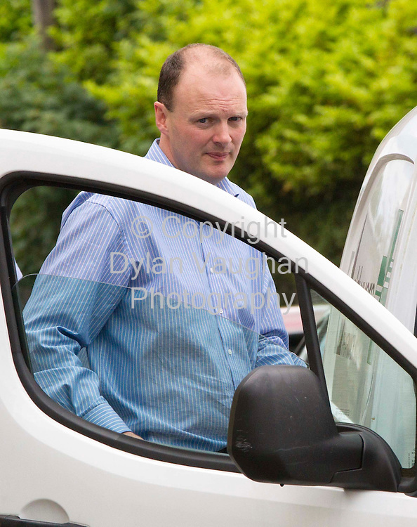 26/6/2012..Sean O Dwyer (pharmacy owner) pictured at the scene of an attempted robbery at O'Dwyers  Pharmacy on Ladyswell Street in Cashel Co. Tipperary..Picture Dylan Vaughan