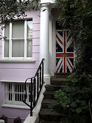 UK ENGLAND LONDON 12OCT13 - Union Jack door at the entrance to a private home in Notting Hill, west London.<br /> <br /> <br /> <br /> jre/Photo by Jiri Rezac<br /> <br /> <br /> <br /> © Jiri Rezac 2013