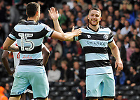Football - 2016 /2017 Championship - Fulham vs Queens Park Rangers<br /> <br /> Conor Washington of QPR celebrates scoring goal no.1 with Pawel Wszolek at Craven Cottage<br /> <br /> Credit : Colorsport / Andrew Cowie