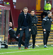 3rd November 2018, Fir Park, Motherwell, Scotland; Ladbrokes Premiership football, Motherwell versus Dundee; Dundee manager Jim McIntyre