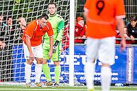 DEN HAAG - HBS - MSC , Sportpark Craeyenhout , Voetbal , Promotie/degradatie topklasse , seizoen 2014/2105 , 28-05-2015 , MSC speler Alex Zomer (l) is teleurgesteld