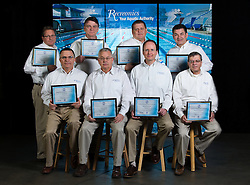 Recreonics sales team photo with certifications, Wednesday, April 02, 2014 at Recreonics Warehouse in Louisville.