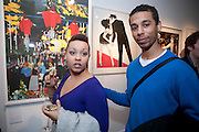 JO JO FIELDING; LOUIS KIWANUKA, Exhibition of Gerald Laing Graphics. Opening of the Morton Metropolis Gallery. Hosted by Serena Morton and Raye Cosbert.  London. 10 February 2010