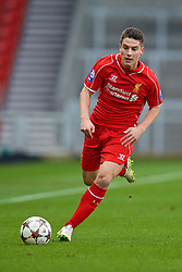 LIVERPOOL, ENGLAND - Tuesday, December 9, 2014: Liverpool's Sergi Canos in action against FC Basel during the UEFA Youth League Group B match at Langtree Park. (Pic by David Rawcliffe/Propaganda)