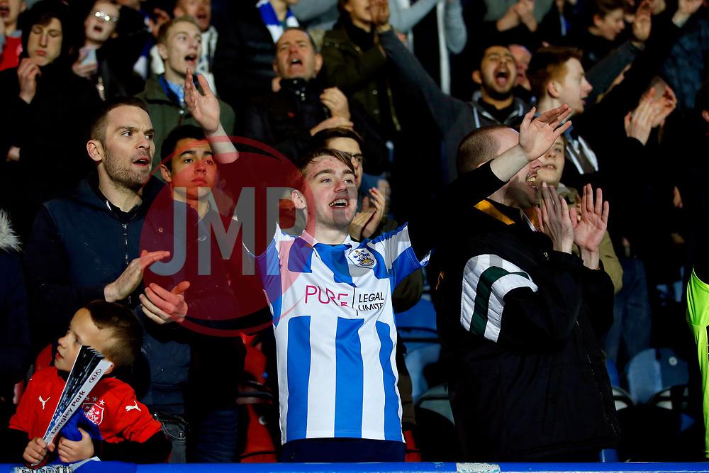 Huddersfield Town fans cheer - Mandatory by-line: Matt McNulty/JMP - 05/04/2017 - FOOTBALL - The John Smith's Stadium - Huddersfield, England - Huddersfield Town v Norwich City - Sky Bet Championship