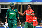 Wicket - Mohammad Saifuddin of Bangladesh celebrates taking the wicket of Wahab Riaz of Pakistan during the ICC Cricket World Cup 2019 match between Pakistan and Bangladesh at Lord's Cricket Ground, St John's Wood, United Kingdom on 5 July 2019.