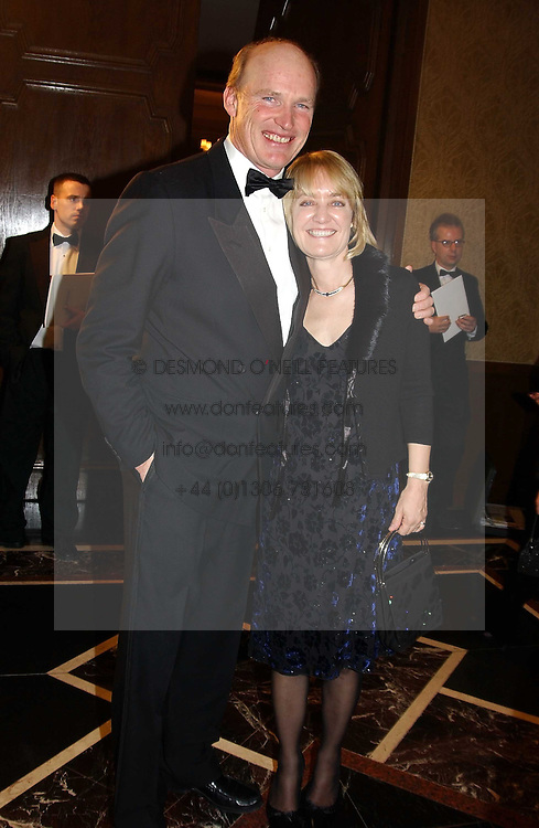 MR & MRS JOHN GOSDEN at the 2004 Cartier Racing Awards in association with the Daily Telegraph, held at the Four Seasons Hotel, London on 17th November 2004.<br /><br />NON EXCLUSIVE - WORLD RIGHTS