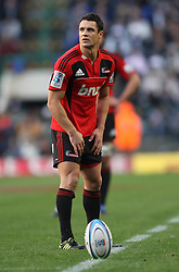 Crusaders flyhalf Dan Carter during the Super Rugby Semi-Final match between DHL Stormers and the Crusaders held at DHL Newlands Stadium in Cape Town, South Africa on 2 July 2011...Photo by Shaun Roy / Sportzpics.net