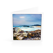 Photo Art Greeting Card | South West Rocks Collection | Afternoon Twilight, Main Beach | Printed on lightly textured matte art paper stock, blank inside. White envelope included, packaged in sealed poly bag. Dimensions: Card 123 x 123mm. Envelope 130 x 130mm.<br />